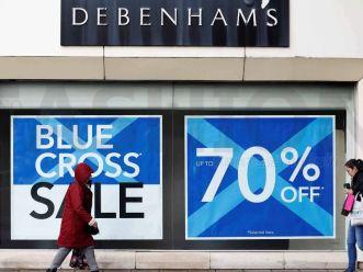 英国零售水深火热! Debenhams百货半年内三发盈利预警 股价重挫20%