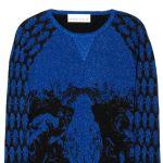 Prabal Gurung印花羊毛混纺毛衣