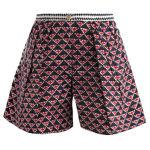 Thierry Colson 几何图案高腰短裤